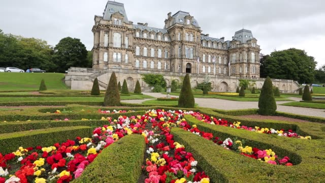 bowes museum in barnard castle county durham uk - stone material stock videos & royalty-free footage
