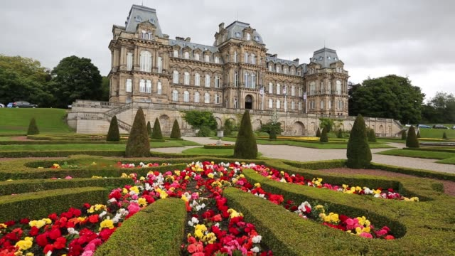 bowes museum in barnard castle, county durham, uk. - stone material stock videos & royalty-free footage