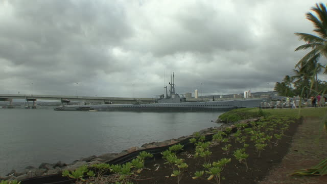 ws uss bowfin at pearl harbor / honolulu, hawaii, usa - pearl harbor stock videos and b-roll footage