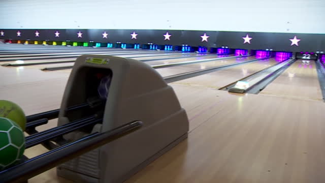 bowling alley being cleaned in preparation for reopening from covid lockdown - spray stock videos & royalty-free footage