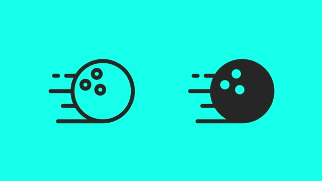 bowling ball icons - vector animate - scoring stock videos & royalty-free footage