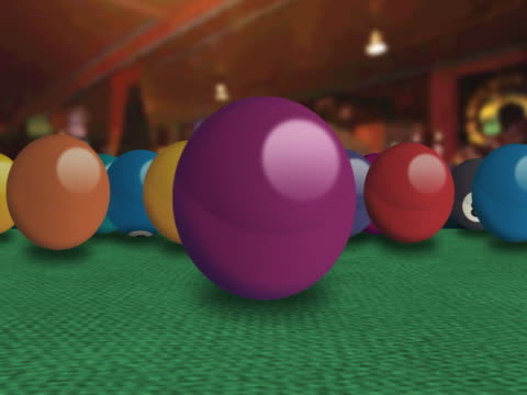 stockvideo's en b-roll-footage met bowling balls moving in a bowling alley - getal 9