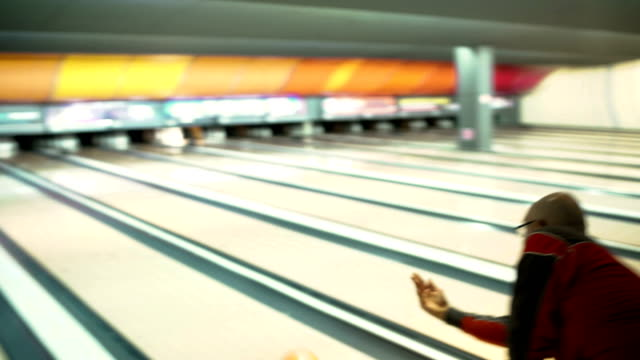 bowling is for everyone-senior men bowling - ten pin bowling stock videos & royalty-free footage