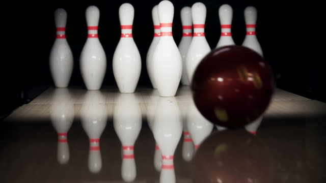 bowling pins - bowling alley stock videos & royalty-free footage