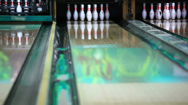 bowling strike - bowling alley stock videos & royalty-free footage