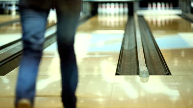 bowling. - bowling alley stock videos & royalty-free footage