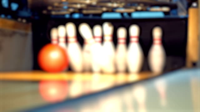 bowling - bowling alley stock videos & royalty-free footage
