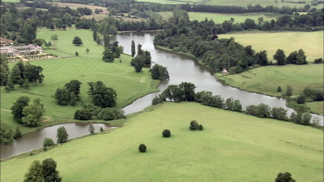 Bowood House  - Aerial View - England,  Wiltshire,  Calne Without helicopter filming,  aerial video,  cineflex,  establishing shot,  United Kingdom