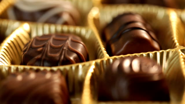 box of chocolates - confectionery stock videos & royalty-free footage