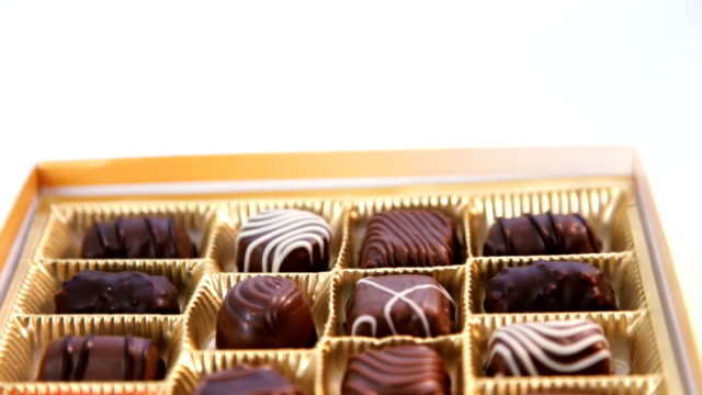 box of chocolates - medium group of objects stock videos & royalty-free footage