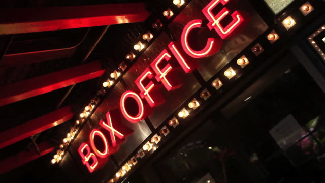 box office neon sign - hd format stock videos & royalty-free footage