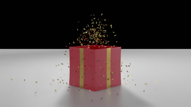 box top explode confetti - gift box stock videos & royalty-free footage