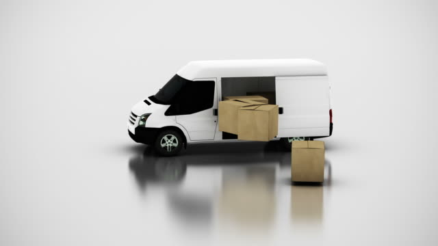 box transportation - van vehicle stock videos and b-roll footage