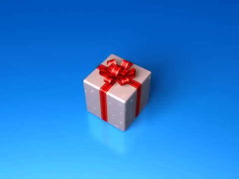 box with ribbon pal - christmas gift stock videos and b-roll footage