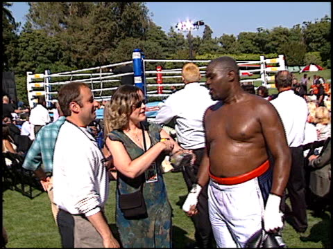 boxer at the playboy fight night at playboy mansion in los angeles california on july 9 2002 - playboy mansion stock videos & royalty-free footage