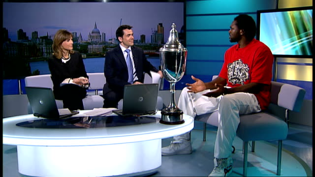 boxer audley harrison talks about post-natal depression; england: london: gir: int audley harrison live studio interview sot - talks about michael... - postpartum depression stock videos & royalty-free footage
