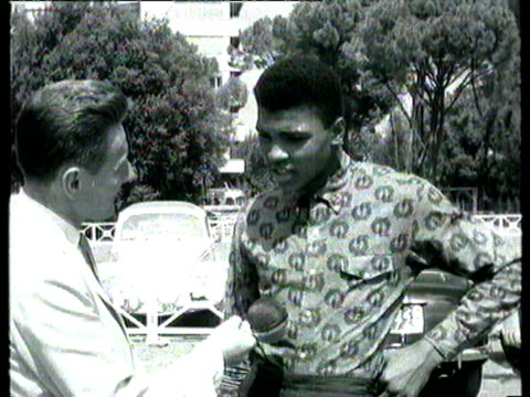 boxer cassius clay is interviewed and asked how he got his roman sounding name he replies that he got it from his greatgreatgreat grandfather who was... - identity stock videos & royalty-free footage