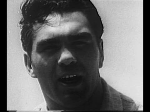 boxer max schmeling spars with partner at speculator ny training camp as photographer shoots picture in background / sot schmeling re being confident... - cravat stock videos and b-roll footage