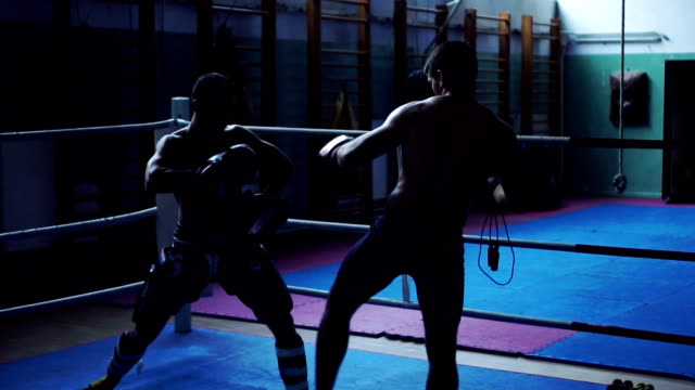 boxers practicing in ring - mixed martial arts stock videos and b-roll footage