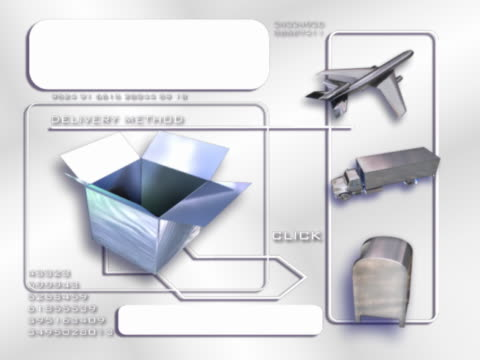 vídeos y material grabado en eventos de stock de boxes, airplane, moving van and mailbox - buzón postal