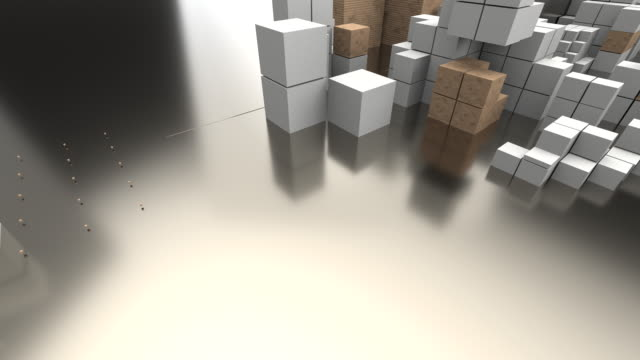 boxes background animation - brick stock videos & royalty-free footage