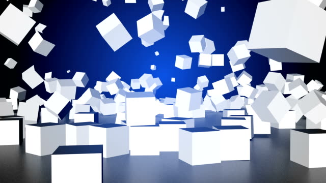 boxes falling - 3d animation stock videos & royalty-free footage
