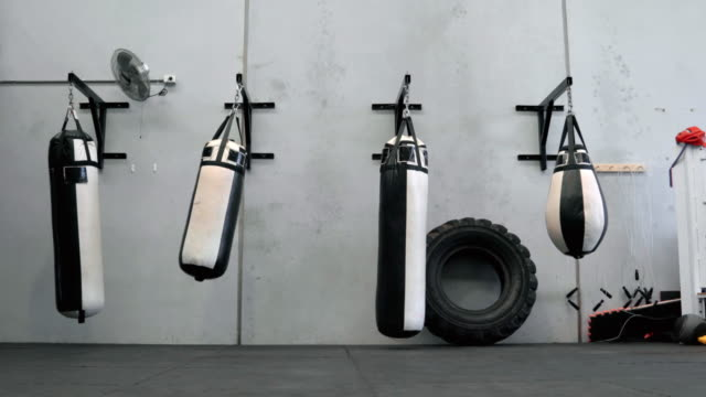 boxing bags - exercise equipment stock videos and b-roll footage