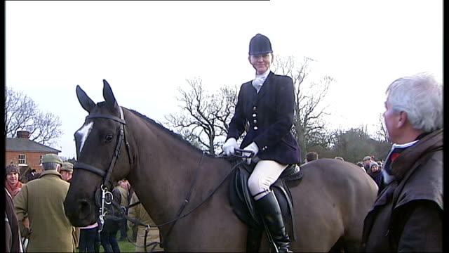 chiddingfold leconfield and cowdray hunt england west sussex petworth park ext chiddingfold leconfield and cowdray hunt members towards on horseback... - petworth stock videos and b-roll footage