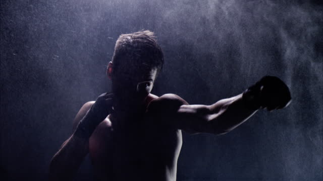 boxing in the shadow. struggling with weaknesses - endurance stock videos & royalty-free footage