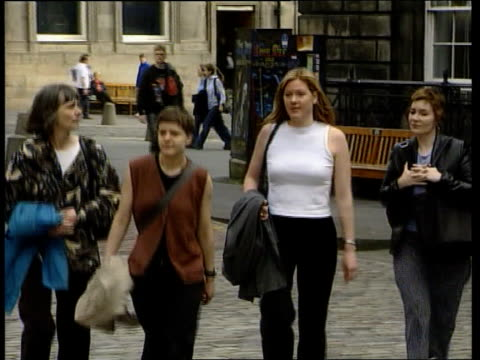 mike tyson opponents lose entry battle itn scotland edinburgh ext workers from glasgow rape crisis centre along for court action to try to prevent... - mike tyson boxer stock videos and b-roll footage
