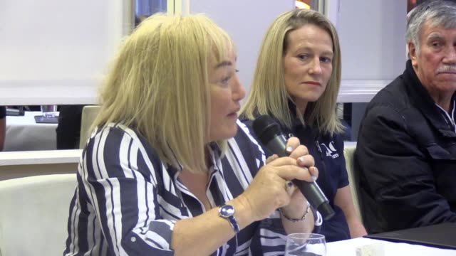 boxing promoter kellie maloney speaks about her return to the sport at a press conference at the merchant hotel in belfast she is managing northern... - world title stock videos & royalty-free footage