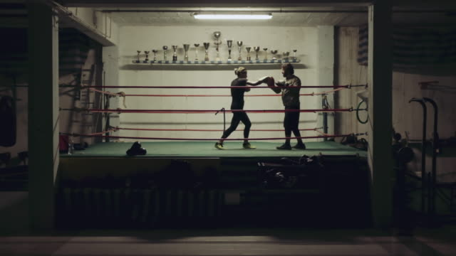 boxing training - boxing ring stock videos & royalty-free footage