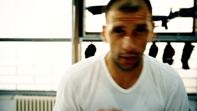 pov boxing - glove fist stock videos & royalty-free footage