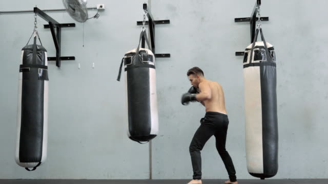 boxing workout - punch bag stock videos and b-roll footage
