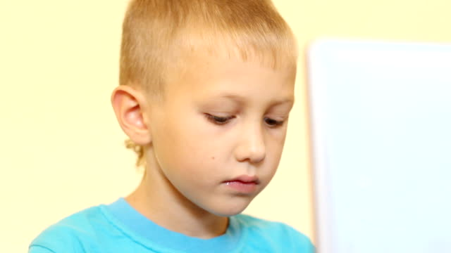 boy at the computer - one baby boy only stock videos & royalty-free footage