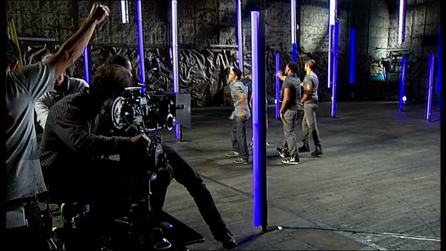 jls boy band shoot first pop video england london int jls boyband filming video for new single 'beat again' - boy band stock videos & royalty-free footage