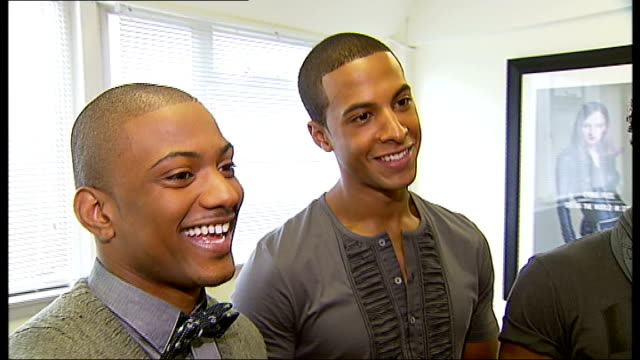 jls boy band shoot first pop video jls interview sot on performing at summertime ball on being friends with 'blue' boy band - boy band stock videos & royalty-free footage