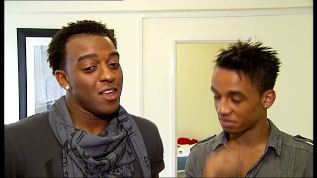 jls boy band shoot first pop video jls interview sot on rumours of going on tour with michael jackson - boy band stock videos & royalty-free footage