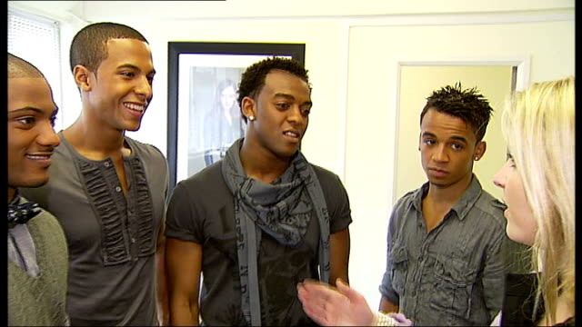 jls boy band shoot first pop video jls interview sot on their dance routine - boy band stock videos & royalty-free footage