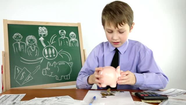 boy creates a business plan