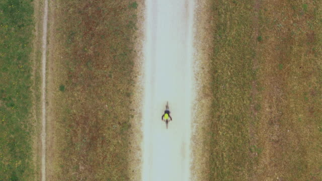 boy cycling on a trail, top down view - 8 9 years stock videos & royalty-free footage