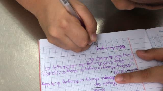 boy doing homework - schulkind nur jungen stock-videos und b-roll-filmmaterial