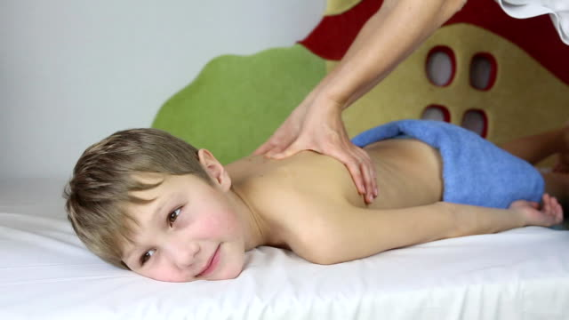 boy doing massage
