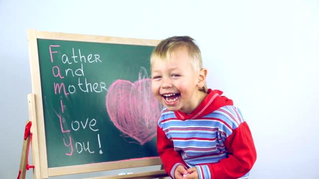 boy draws compliments for parents