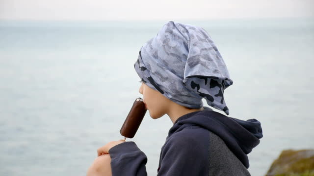 boy eating ice cream - popsicle stick stock videos and b-roll footage