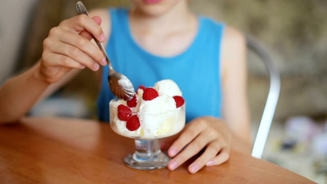 boy eating ice cream - raspberry stock videos & royalty-free footage