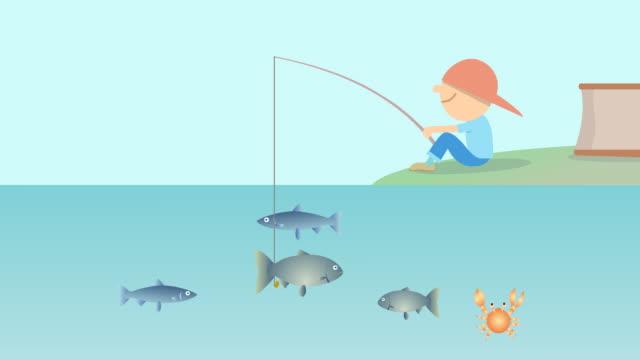 Boy fishing HD