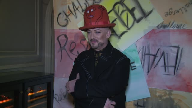 boy george at andaz hotel on september 11 2017 in london england - hyatt stock videos & royalty-free footage