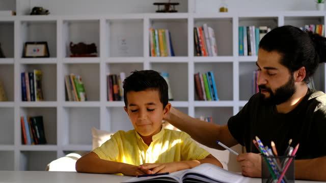 boy having problems in finishing homework - struggle stock videos & royalty-free footage