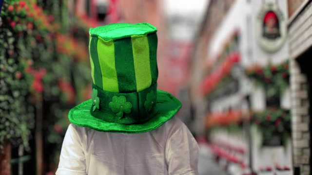 boy in green irish hat on st's patrick day - traditional festival stock videos & royalty-free footage
